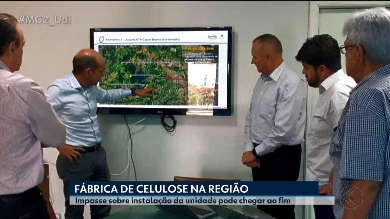 Reunião é realizada sobre impasse de instalação de fábrica de celulose em Araguari