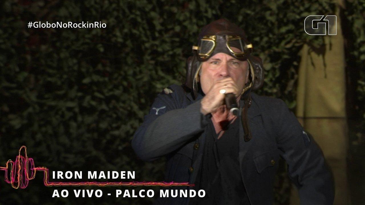 Iron Maiden começa com tudo seu show no Rock in Rio