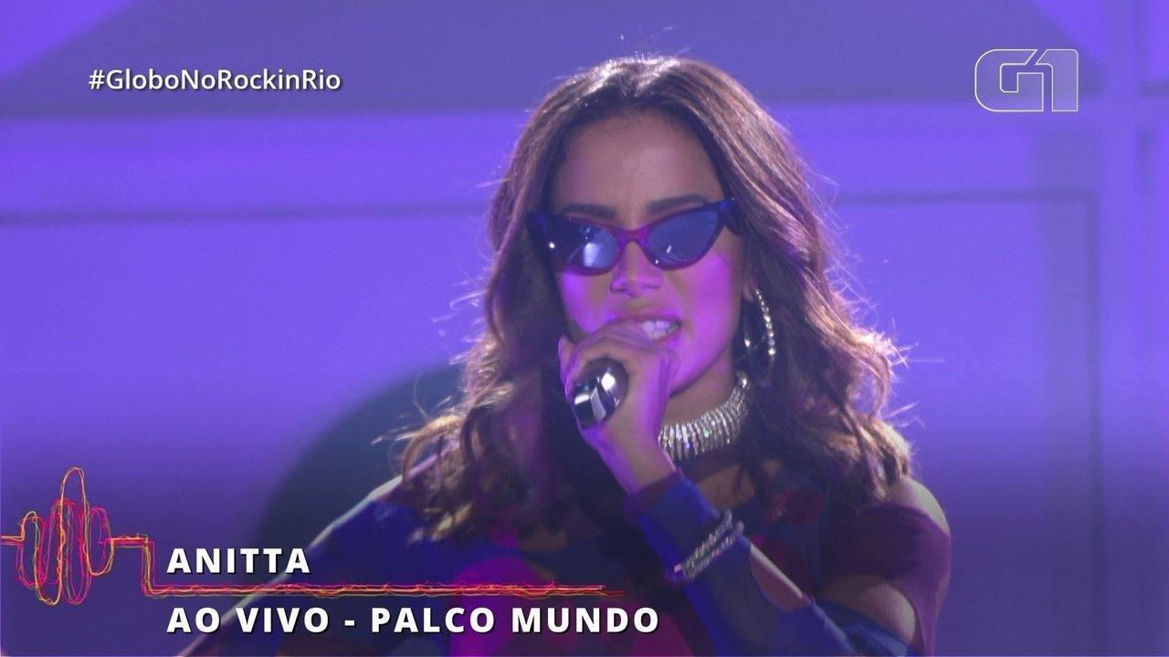 """Anitta abre seu show no Rock in Rio com """"Show das Poderosas"""""""