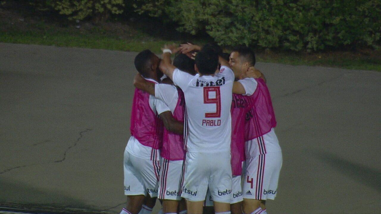 Os gols de São Paulo 2 x 1 Fortaleza pela 23ª rodada do Brasileirão 2019