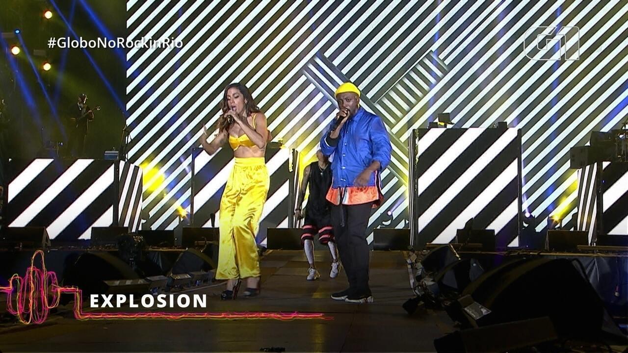 "Black Eyed Peas canta ""Explosion"" com Anitta no Rock in Rio"