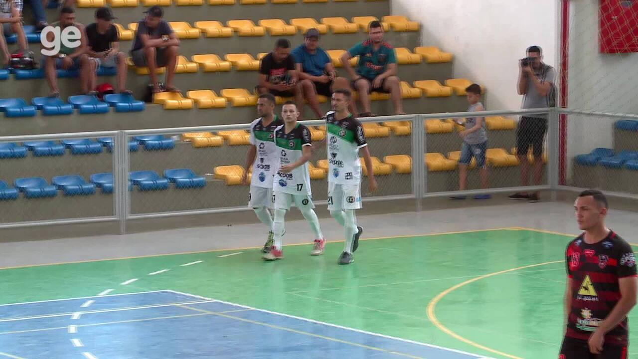 Os gols de JES 3 x 3 Belos pela final do primeiro turno do Piauiense de futsal