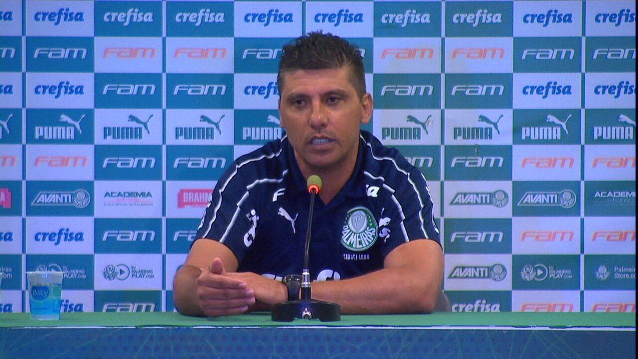 Veja a entrevista de Sidnei Lobo, substituto de Mano, após o empate com o Atlético-MG