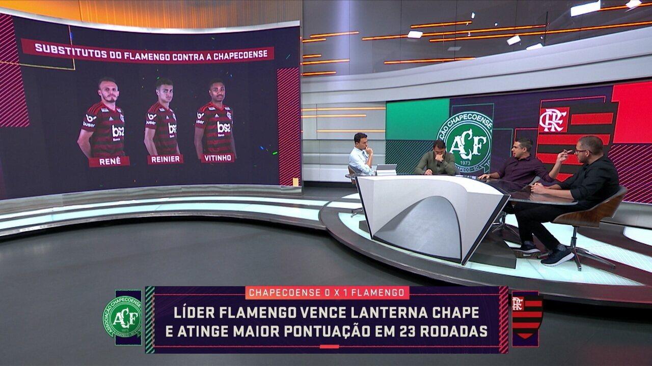 Gustavo Villani analisa como foram os três substitutos do Flamengo contra a Chapecoense