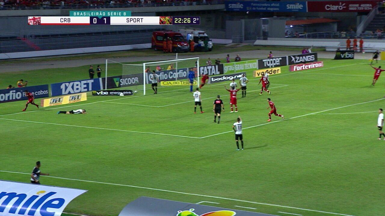 Fernando Henrique faz boa partida contra o Sport e desestabiliza Brocador em penalti