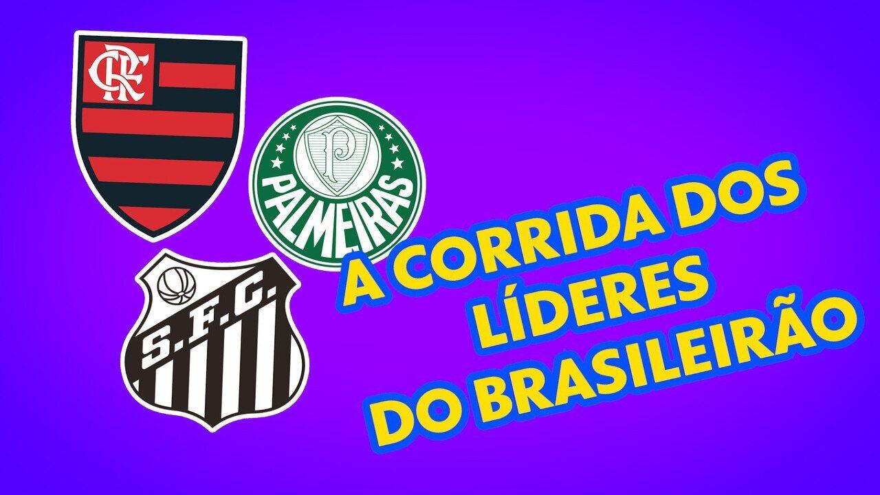 Corrida de líderes: Flamengo, Palmeiras e Santos disputam a ponta do Brasileirão