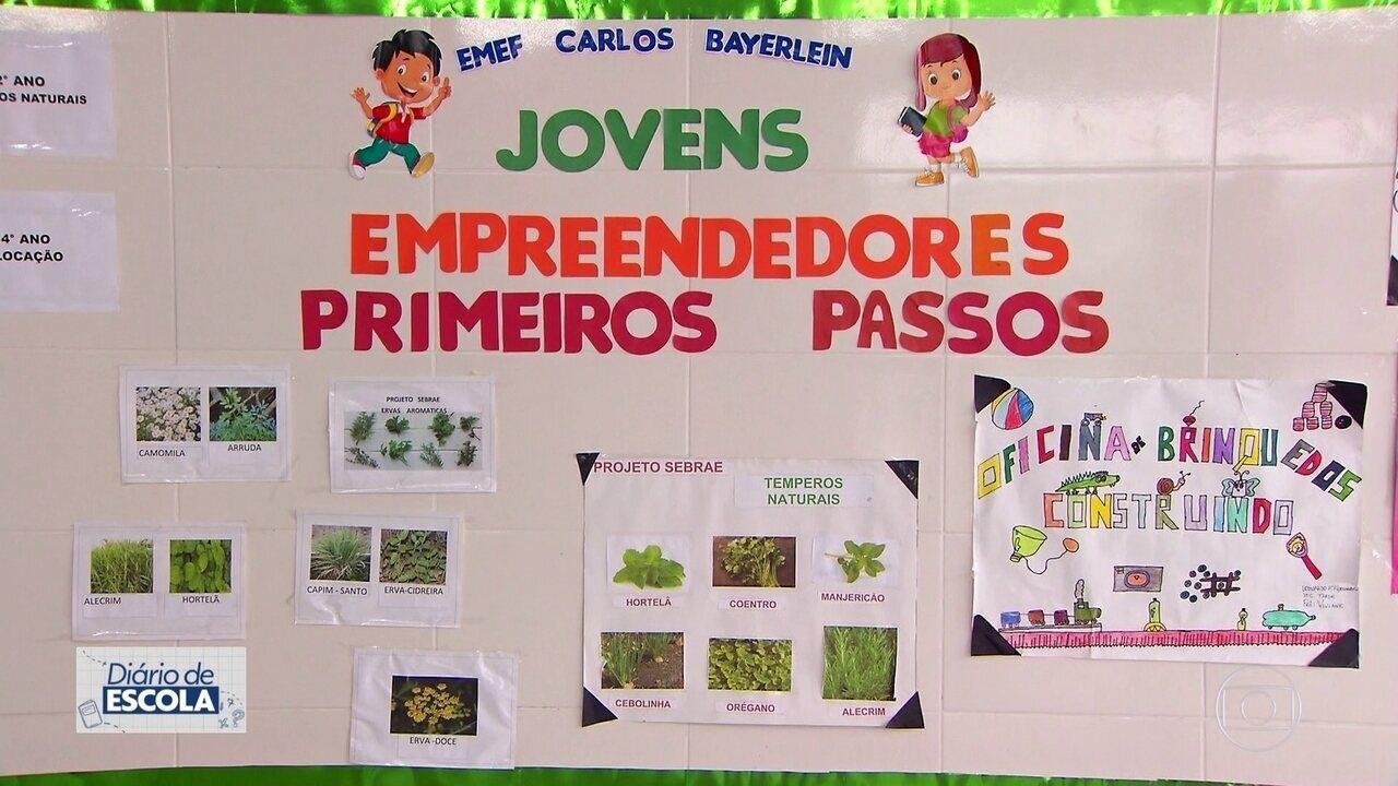 Crianças aprendem a ser empreendedoras em escolas públicas de Caieiras