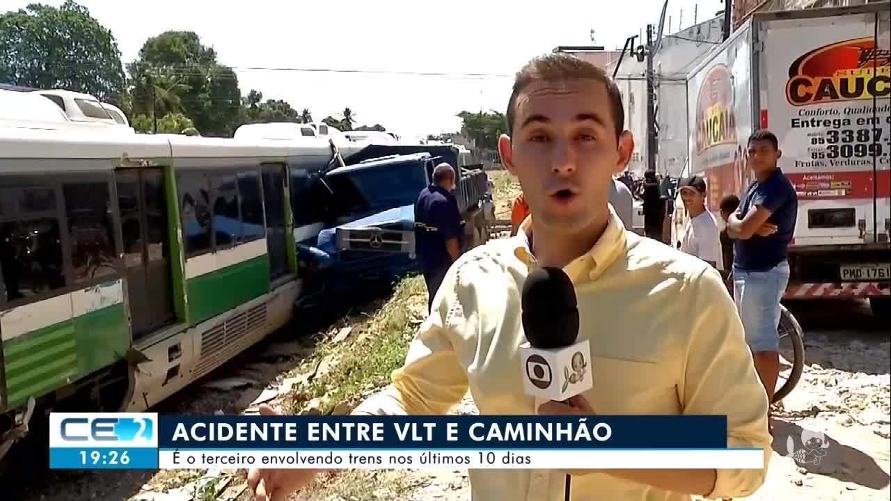 Terceiro acidente com VLT nos últimos 10 dias no Ceará