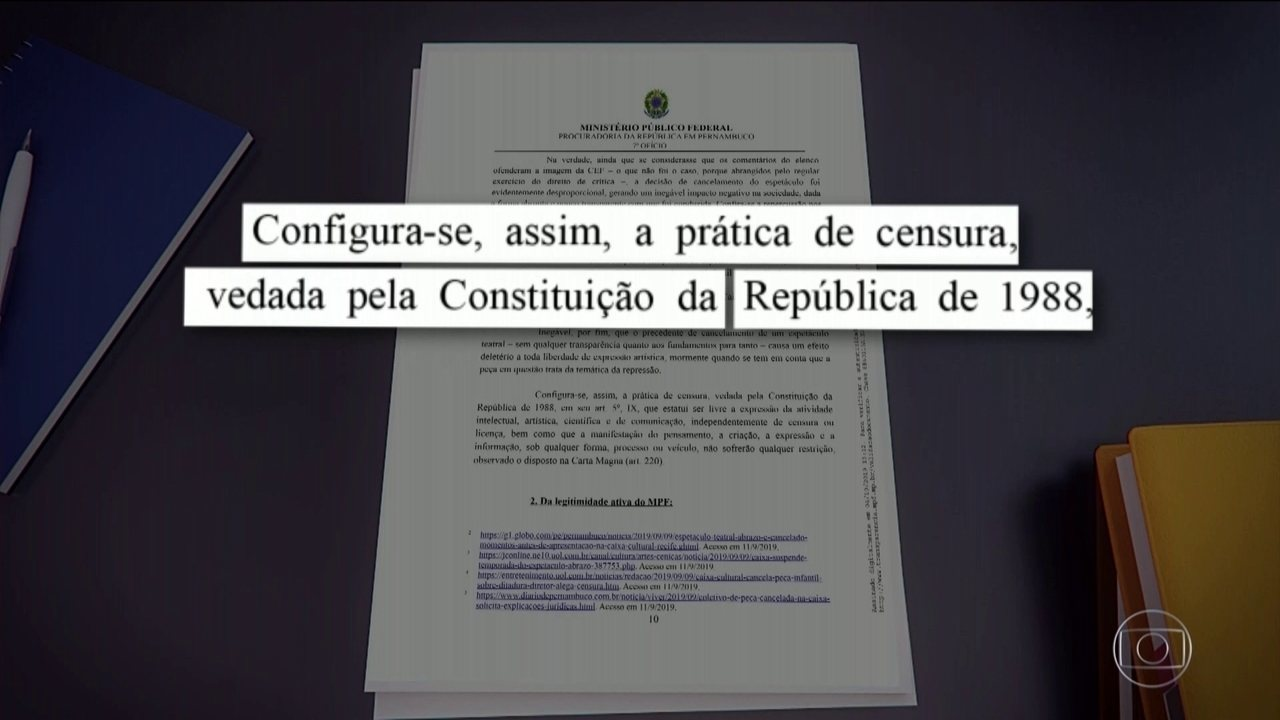 MP cobra explicações da Caixa Cultural e do BB sobre suspeita de censura a espetáculos