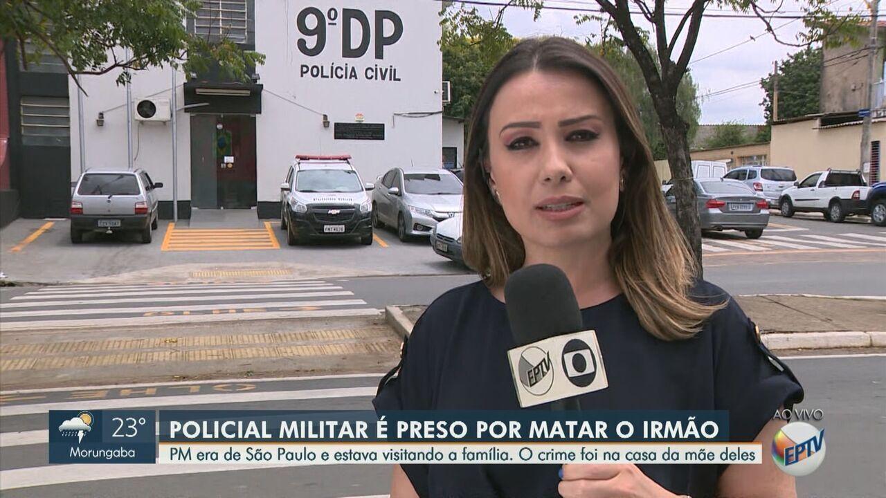 Policial militar é preso em flagrante após matar irmão a tiros em Campinas