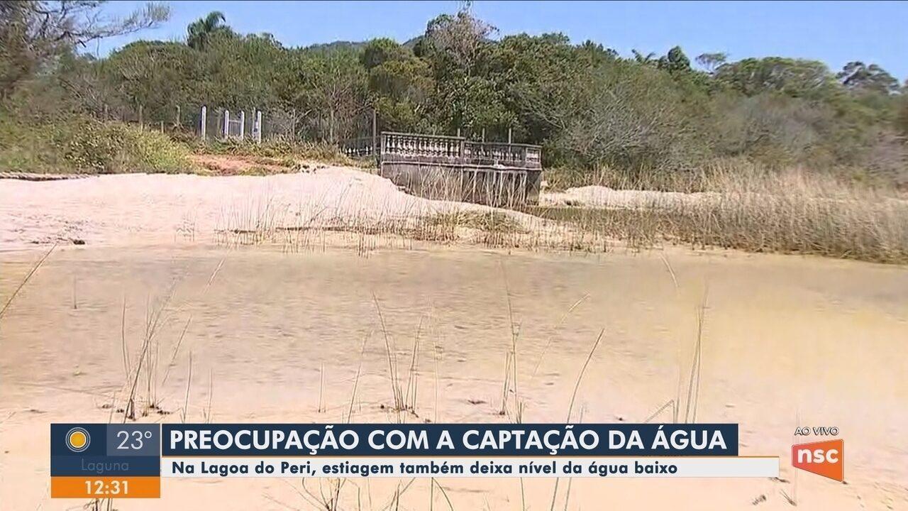 Sem chuvas, lagoa de Florianópolis seca e muda visual de área