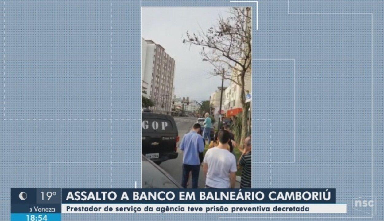 Suspeito de envolvimento no assalto a banco em Balneário Camboriú é preso preventivamente