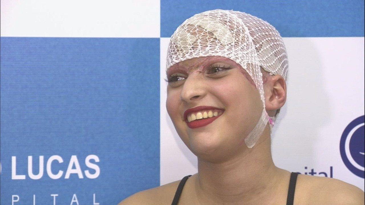 Jovem que perdeu couro cabeludo em kart receberá alta de hospital em Ribeirão no sábado