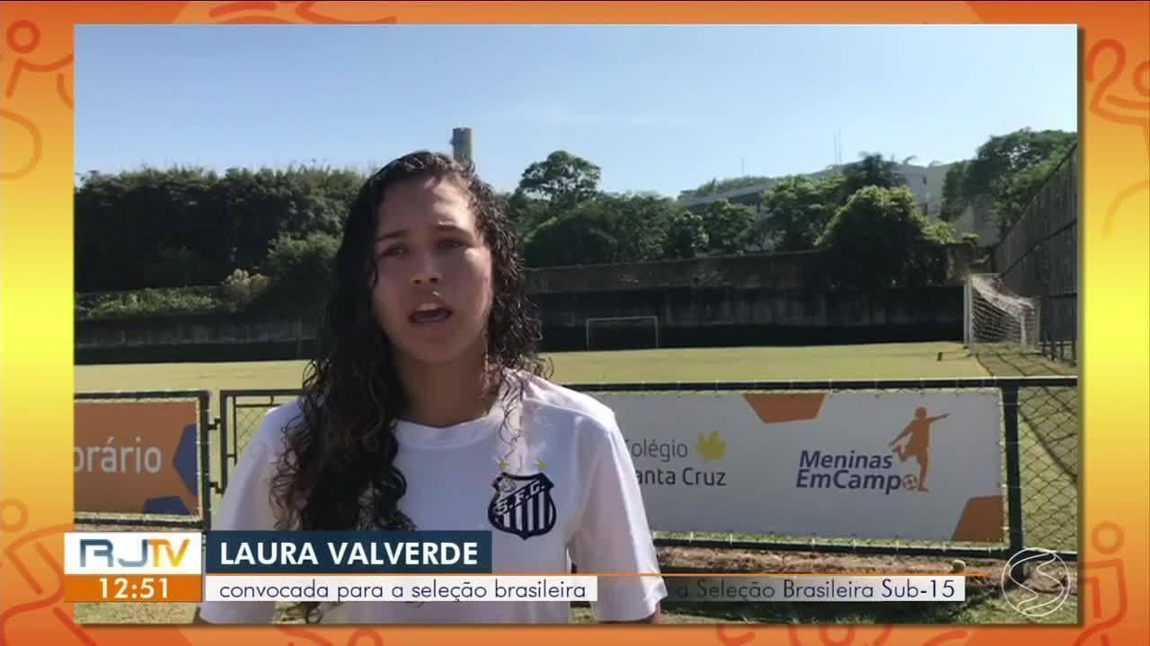 Laura, de Angra dos Reis, é convocada para a seleção brasileira sub-17