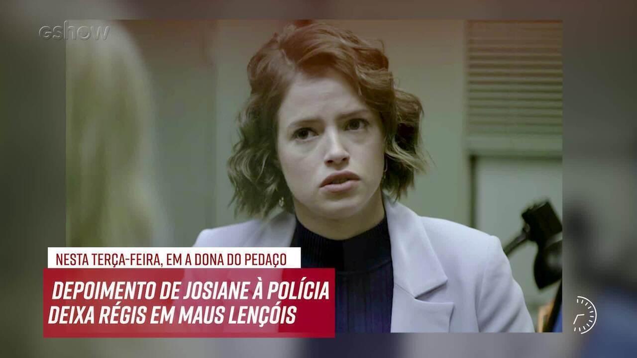 Resumo do dia - 15/10 – Depoimento de Josiane à polícia deixa Régis em maus lençóis