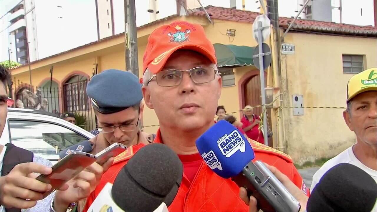 Corpo de Bombeiros: 8 resgatadas, 2 mortos e 10 sob os escombros em prédio de Fortaleza