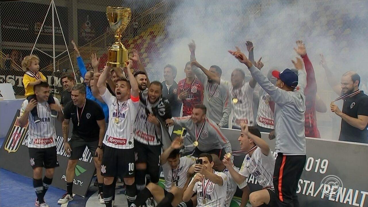 Sorocaba é derrotado pelo Corinthians e perde título do Campeonato Paulista de futsal