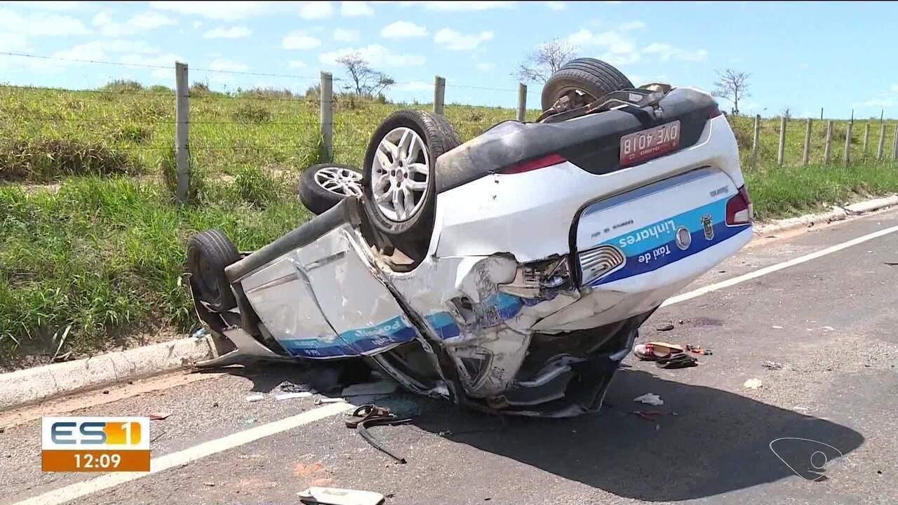 Uma semana após acidente que matou dois em Linhares, taxista dono do carro procura emprego