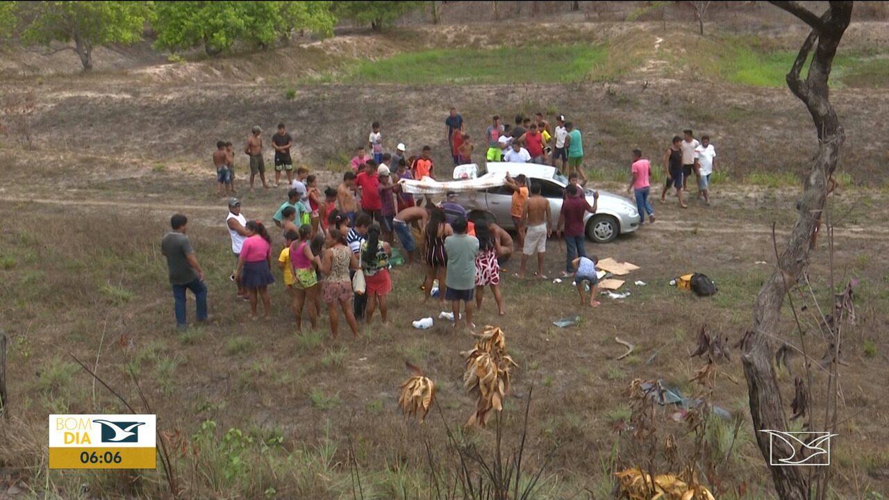 Quatro pessoas ficam feridas durante acidente na BR-316 no Maranhão