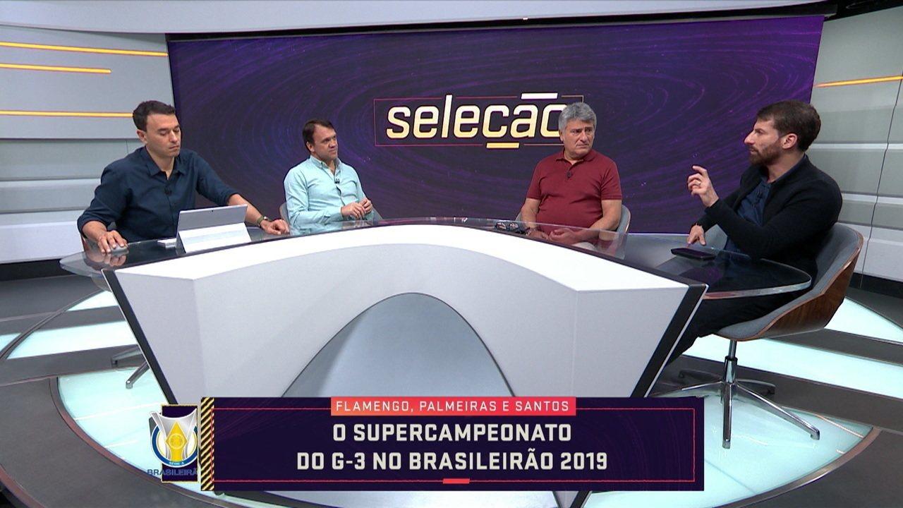 """Flamengo, Palmeiras e Santos fazem campanha espetacular e criam o """"Supercampeonato do G3 do Brasileirão"""""""