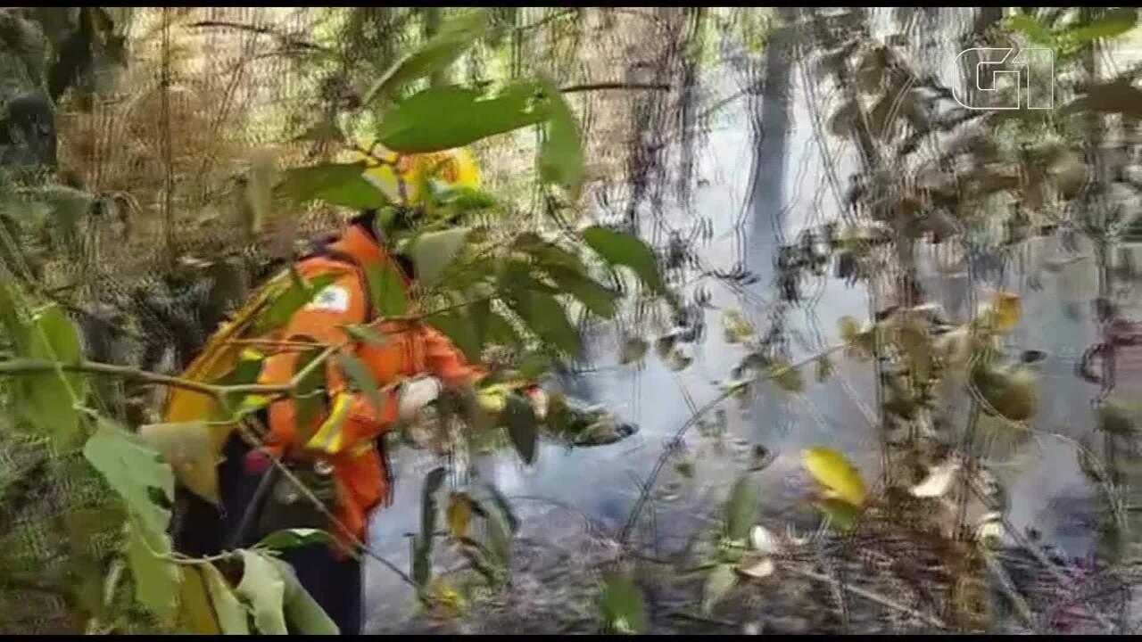 Bombeiros combatem incêndio subterrâneo no DF