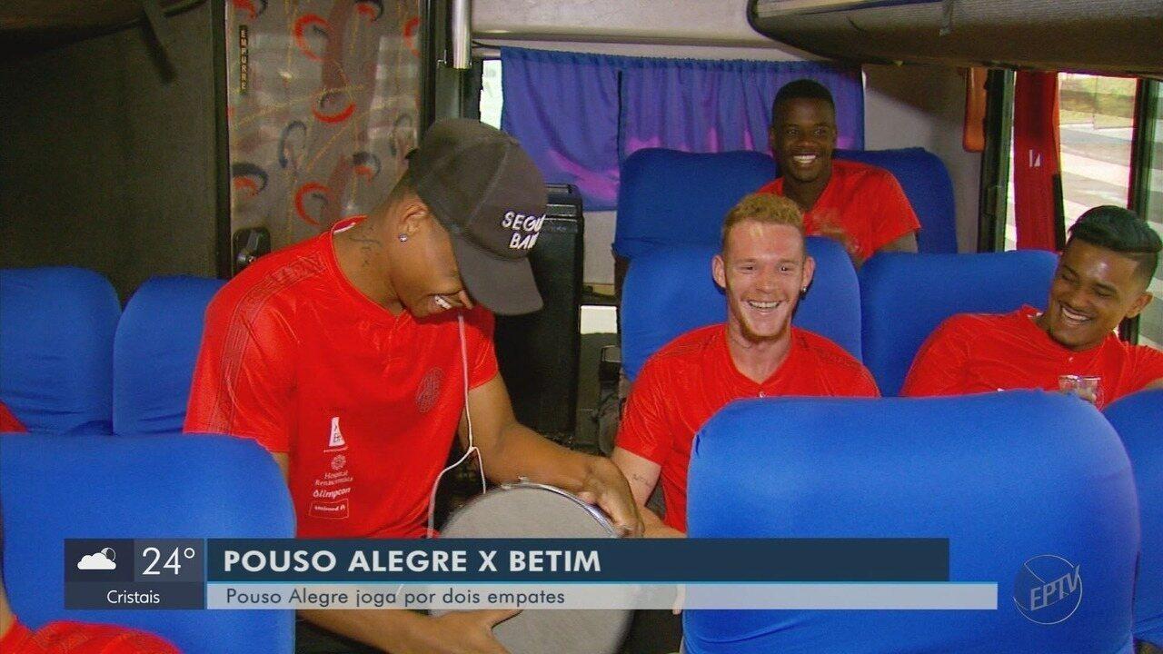 Pouso Alegre viaja para jogo de ida da final contra o Betim na Segundona do Mineiro