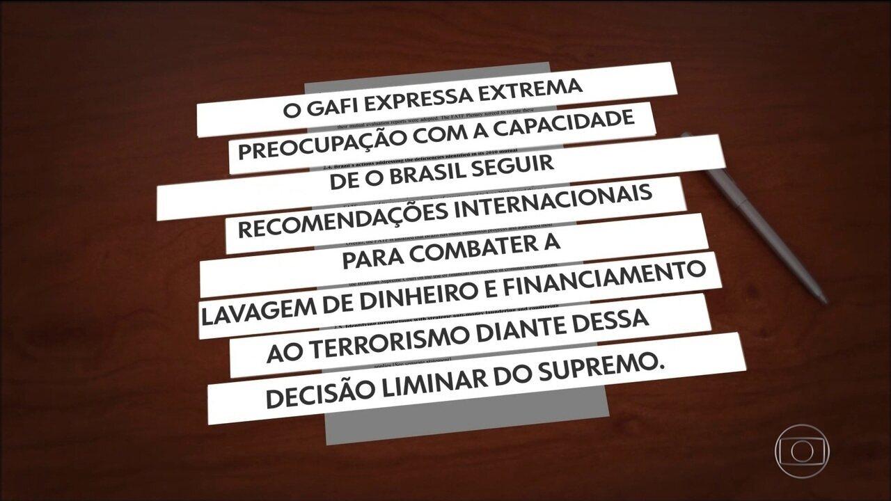Órgão internacional de prevenção à lavagem de dinheiro expressa preocupação com Brasil