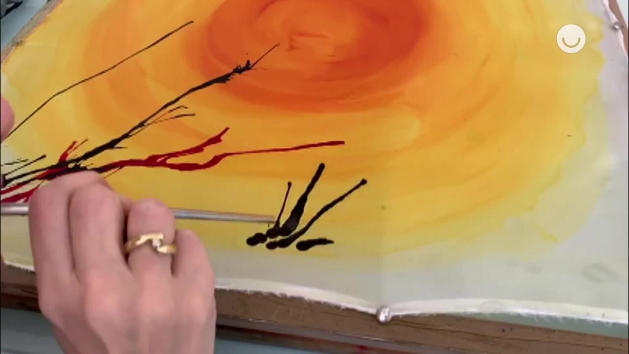 Pintura com canudo: aprenda a técnica