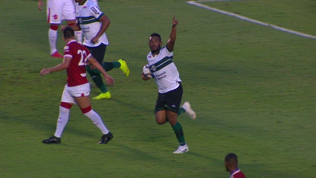Os gols de Vila Nova 2 x 2 Coritiba pela Série B do Campeonato Brasileiro