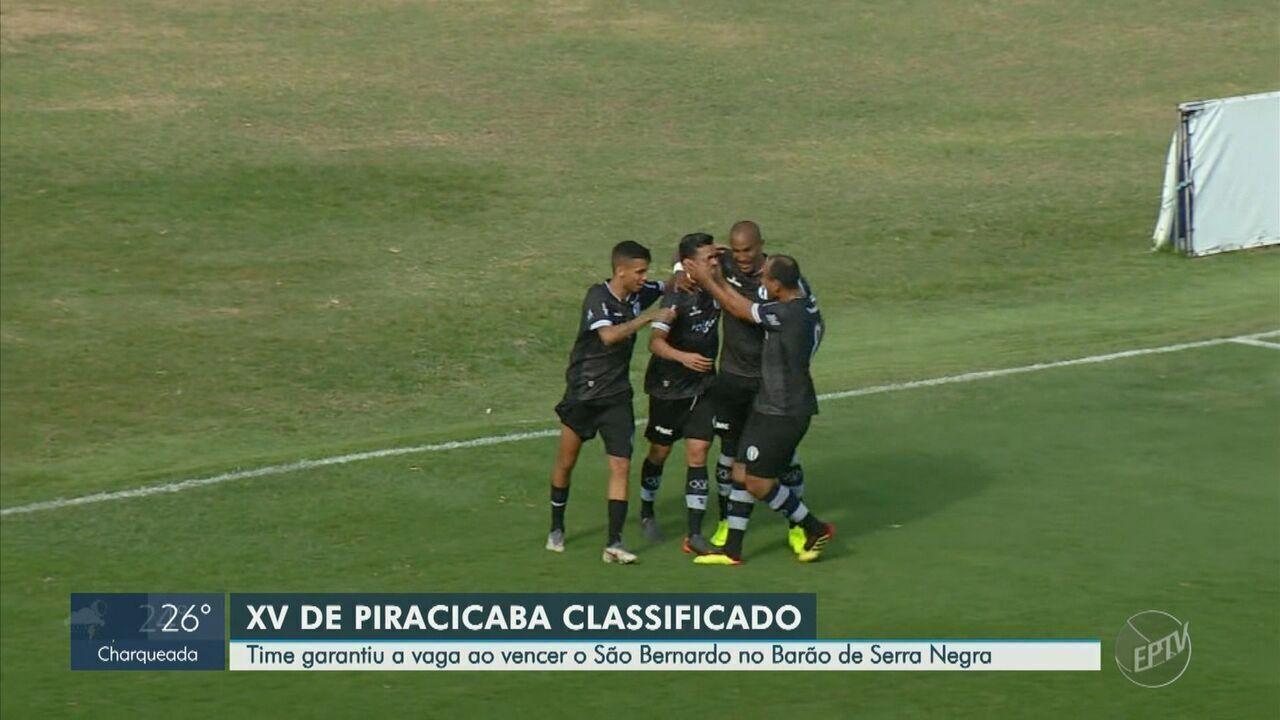 Com pênalti nos acréscimos, XV vence o São Bernardo e garante vaga na semifinal