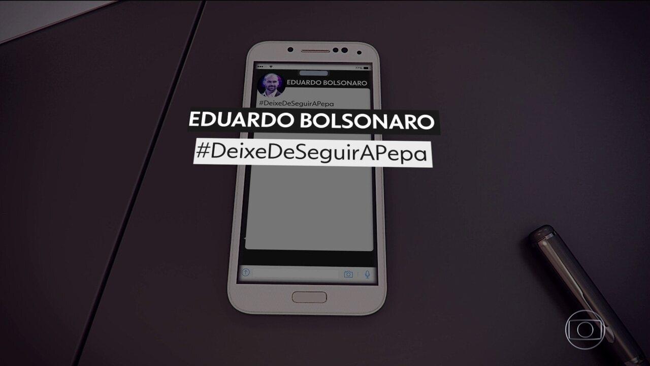 Joice Hasselmann e Eduardo Bolsonaro, do PSL, trocam ofensas nas redes sociais