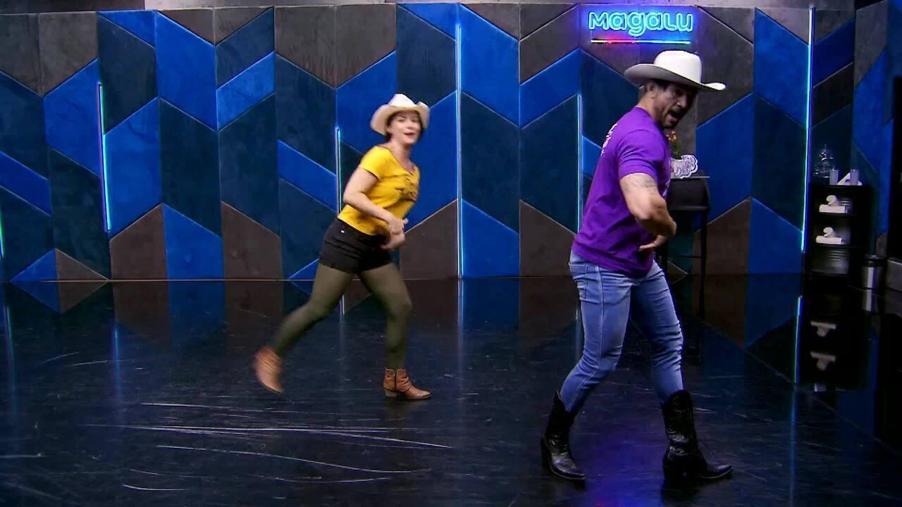 Veja o ensaio de Regiane Alves e Reginaldo Sama no baladão sertanejo do 'Dança'