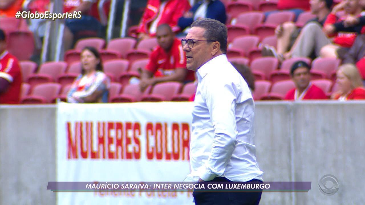 Maurício Saraiva fala sobre negociação do Inter com Luxemburgo