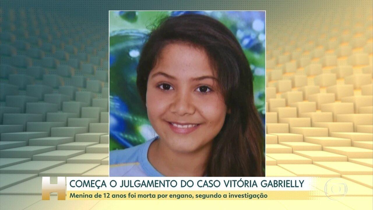 Começa o julgamento do caso Vitória Gabrielly, morta no ano passado