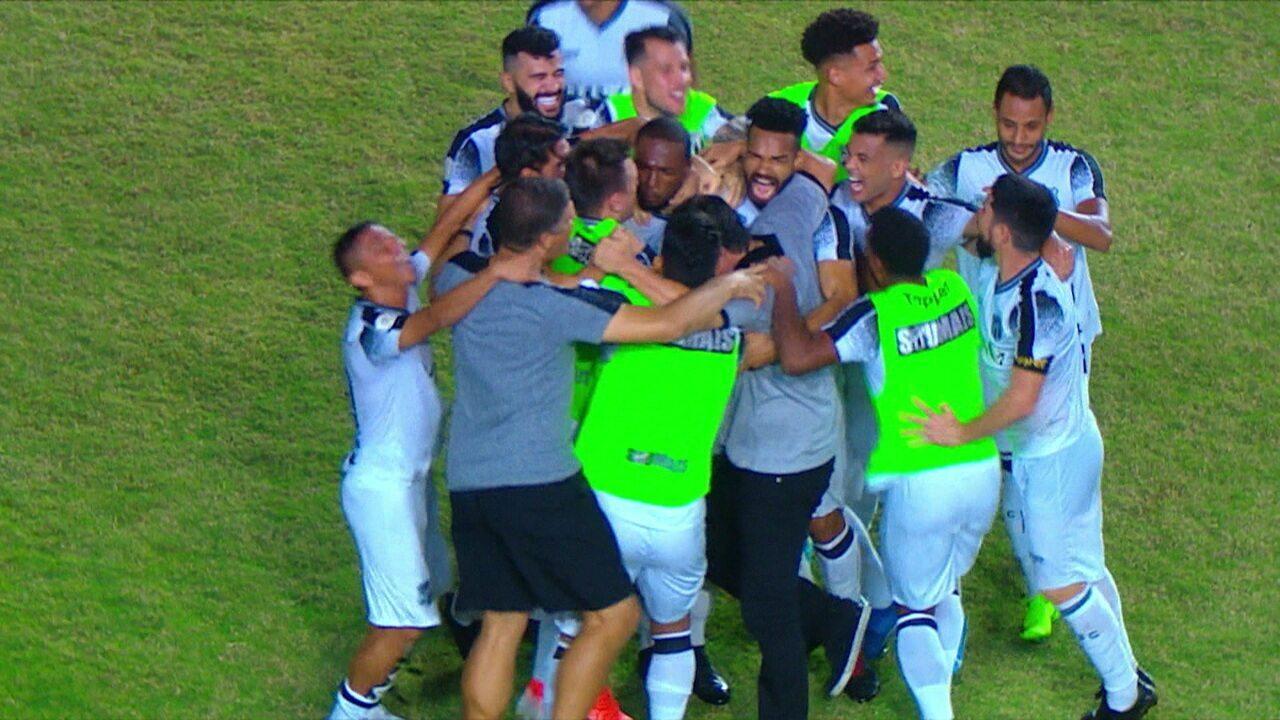 Os gols de Bahia 1 x 2 Ceará pela 27ª rodada do Brasileirão