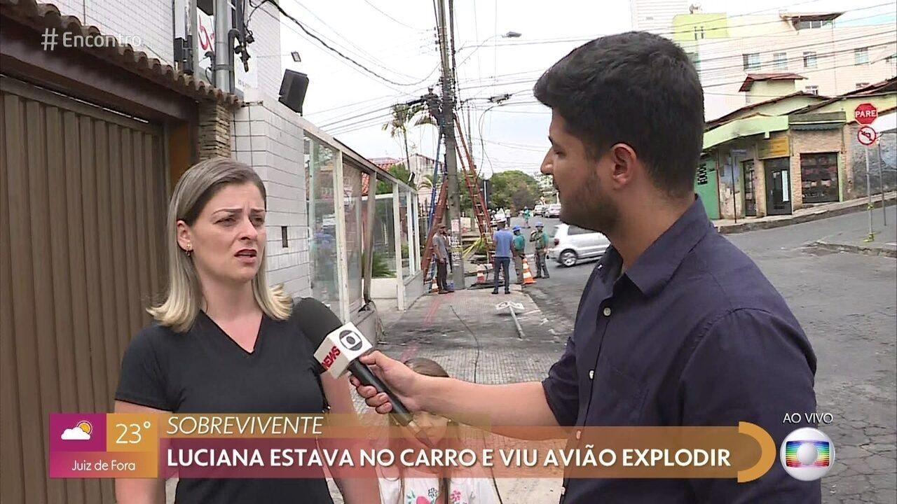 Luciana testemunhou a queda do monomotor em Belo Horizonte