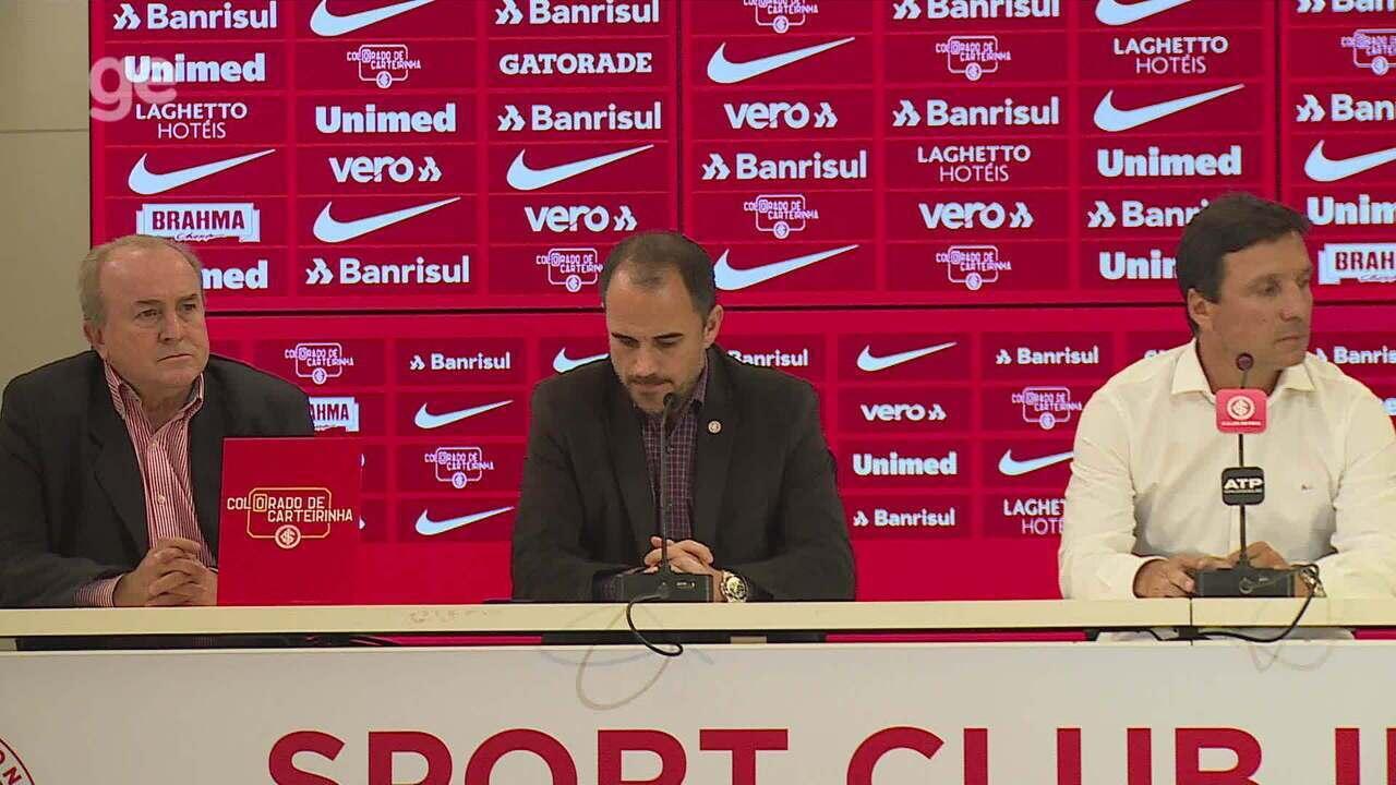 Confira a entrevista coletiva de apresentação do técnico Zé Ricardo