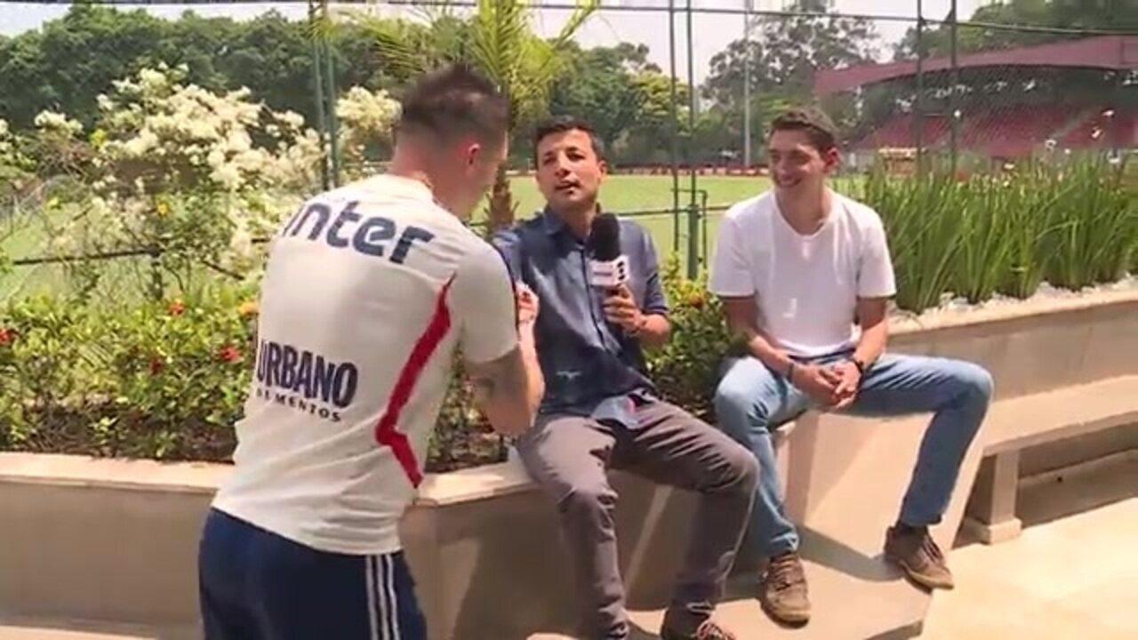 """Tiago Volpi """"invade"""" boletim do GloboEsporte.com no São Paulo"""