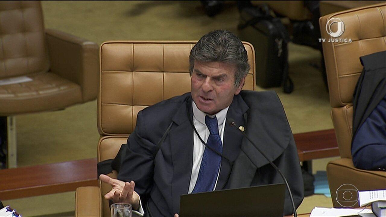 Ministro Luiz Fux vota a favor da prisão de condenados em 2ª instância