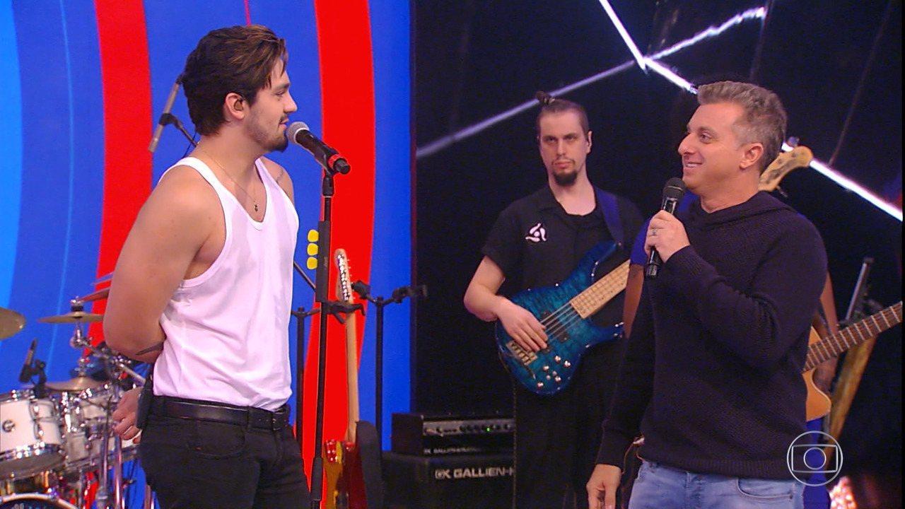 Luan Santana conta sobre gravação de novo show