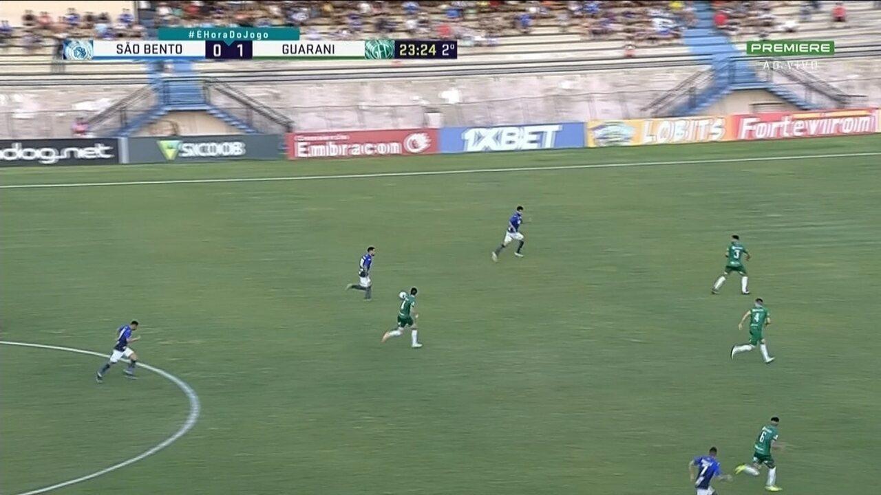 Os melhores momentos de São Bento 1 x 1 Guarani pela 31ª rodada da Série B