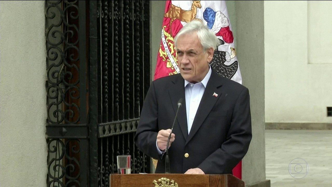 Presidente do Chile pede que os ministros entreguem os cargos