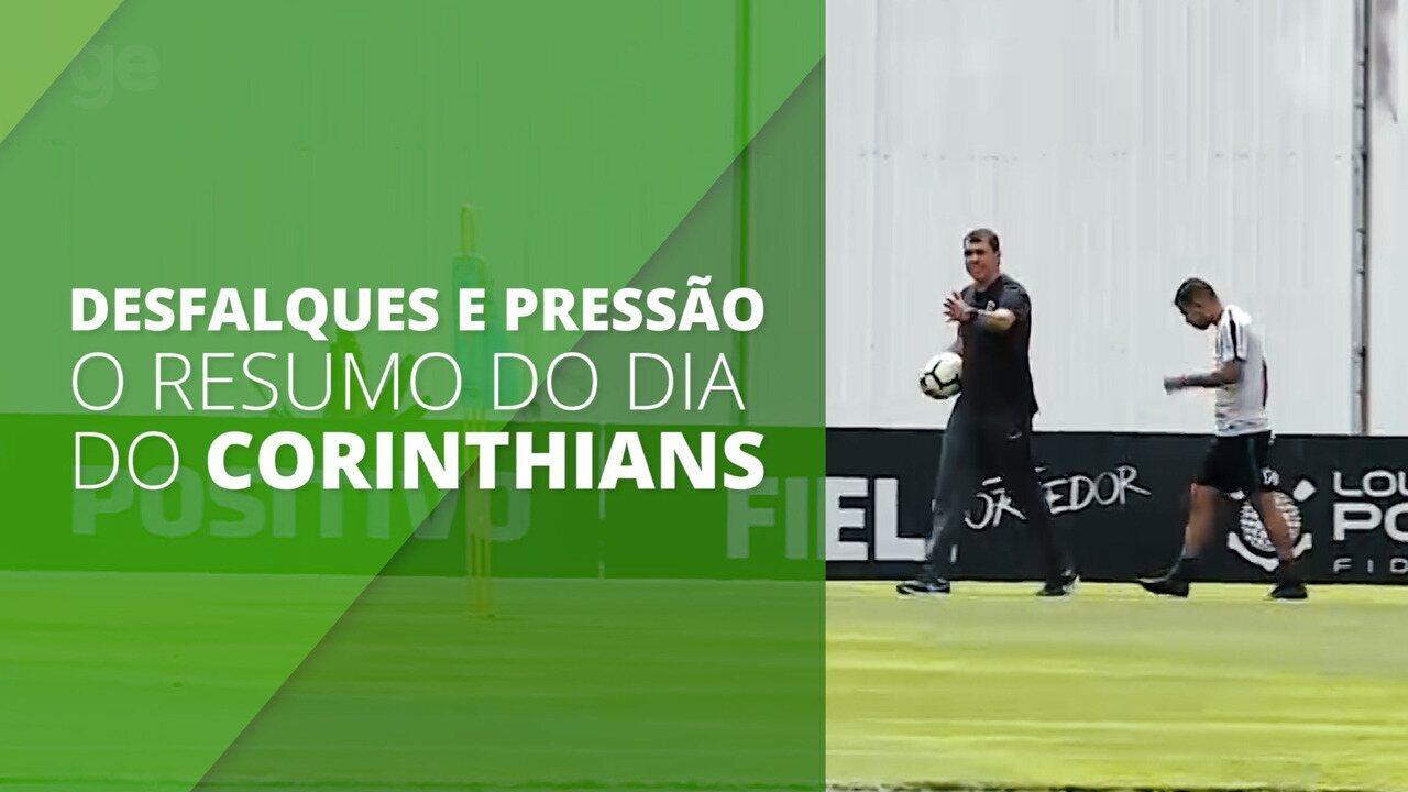 Desfalques, pressão em Carille e escalação: Veja o resumo do treino do Corinthians
