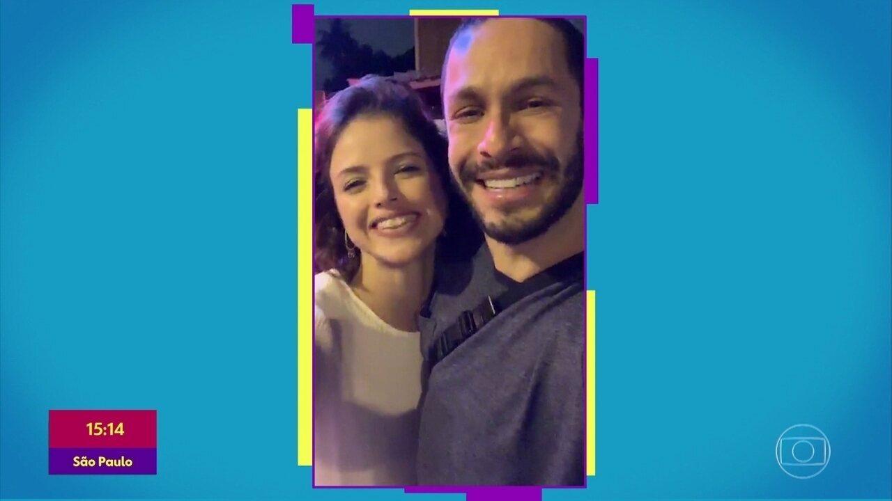 Gshow no 'Se Joga': Agatha Moreira e Rainer Cadete comentam cena de 'A Dona do Pedaço'