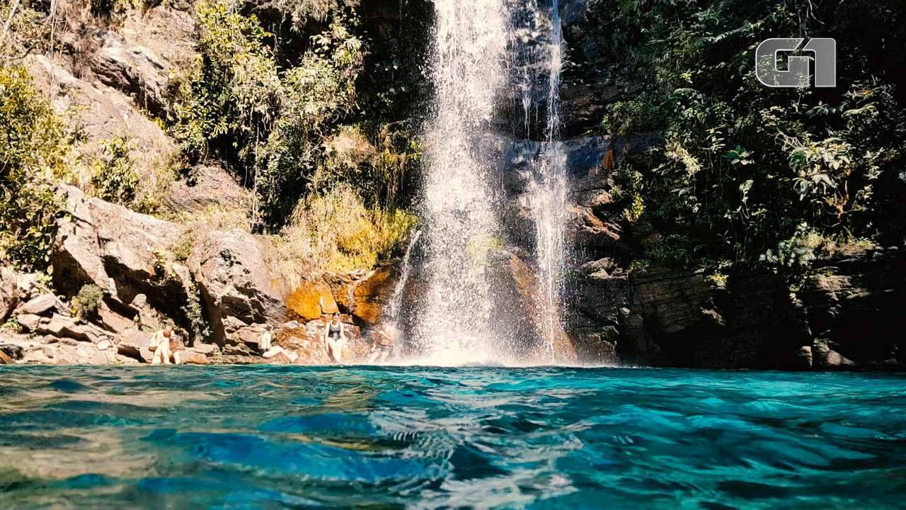 Cachoeiras com águas cristalinas são atrativo de região quilombola na Chapada dos Veadeiro