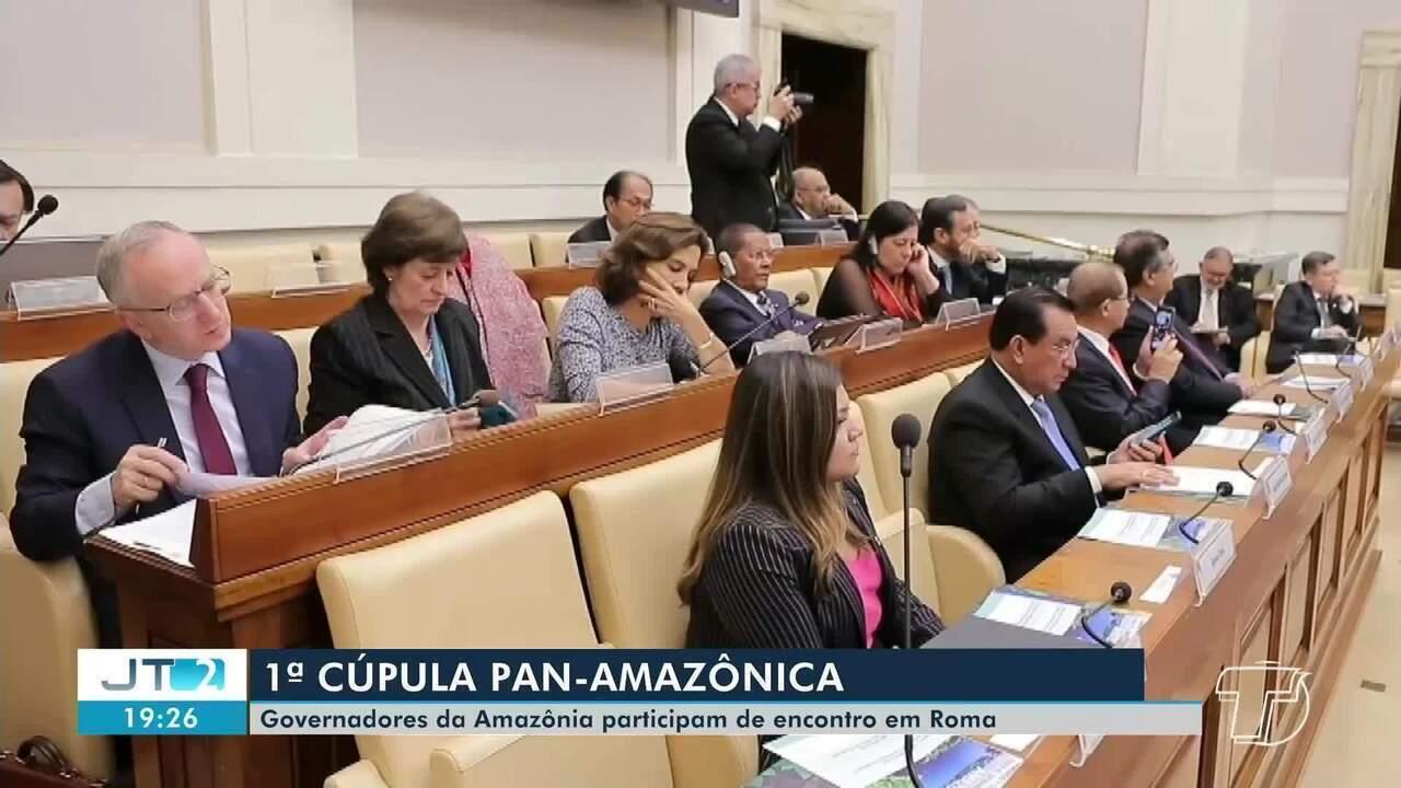 Governadores da Amazônia participam de encontro em Roma