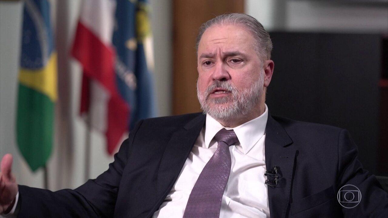 Augusto Aras defende participação do MP em inquérito das fake news do STF