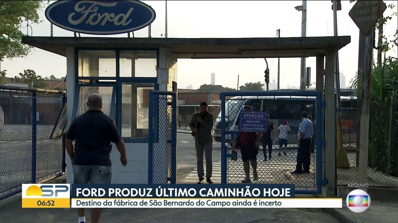 Fábrica da Ford em São Bernardo do Campo, produzirá o último caminhão nesta quarta-feira