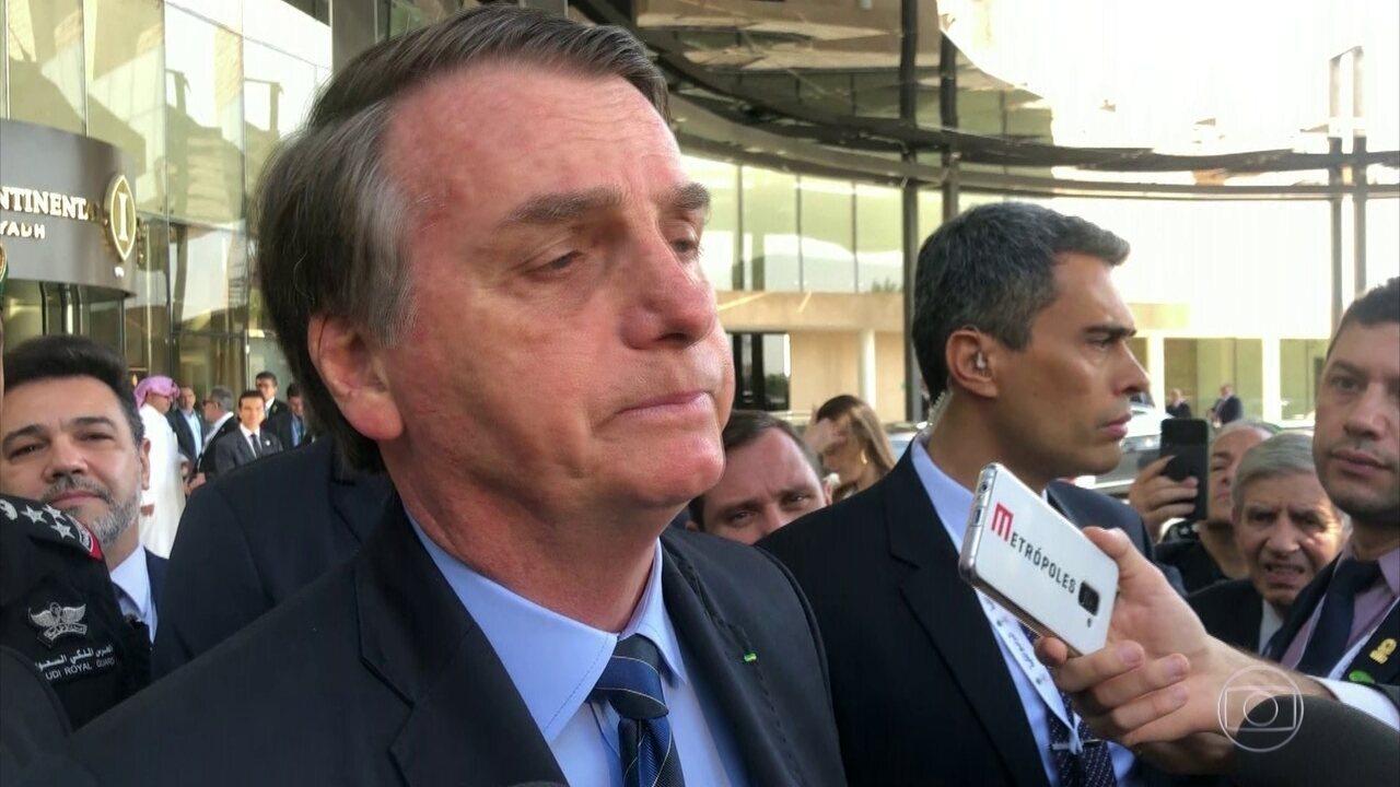Bolsonaro diz ter sido avisado por Witzel sobre citação em caso Marielle