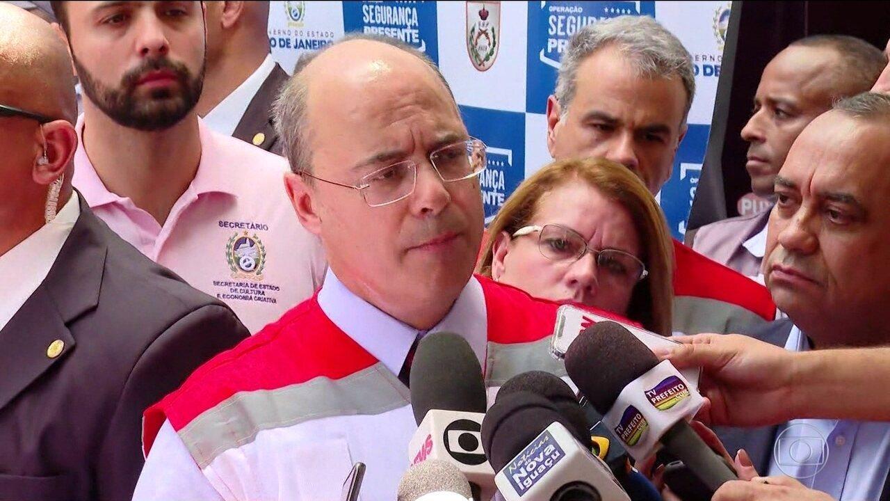 Governador Witzel se defende de acusações de Bolsonaro